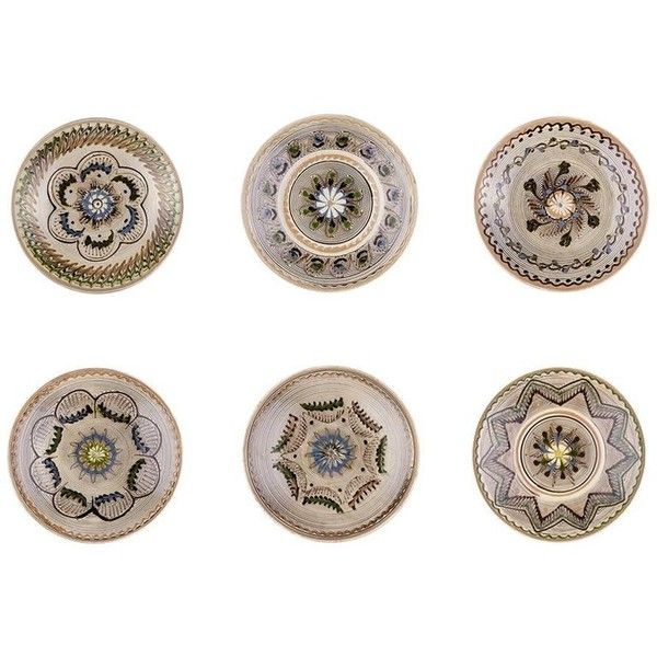 Traditional Romanian Hand-painted Dinner Plates, Set Of Six ($285) ❤ liked on Polyvore featuring home, kitchen & dining, dinnerware, brown, dinner plates, handpainted plates, patterned dinner plates, colored dinnerware, colored dinner plates and colored plates