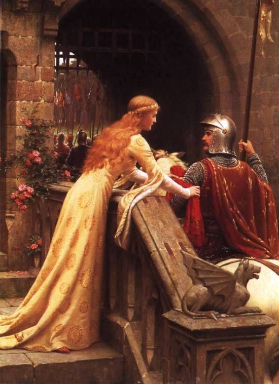 I have a framed print of this wonderful painting! Note: Wrong board. This is by Edmund Blair Leighton.