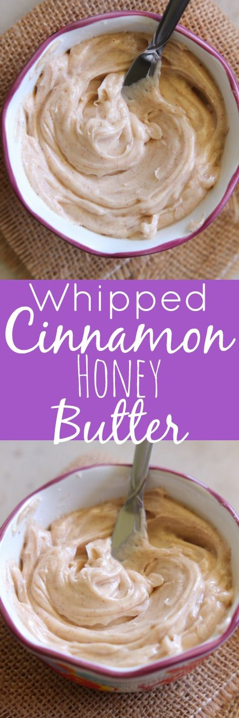 The BEST Whipped Cinnamon Honey Butter