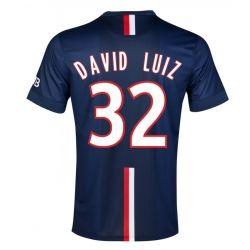 2014-15 PSG David Luiz 32 Home Soccer Jersey Shirt - Navy Blue | Cheap Sale Only $23.99