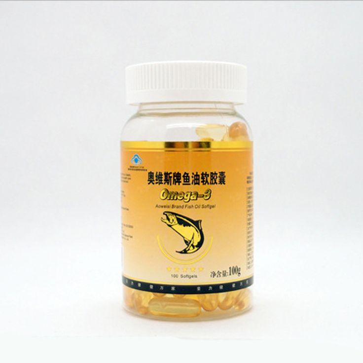 24 bottles/lot 1000mg*100 /bottle Deep Sea Fish Oil Omega decrease blood viscocity