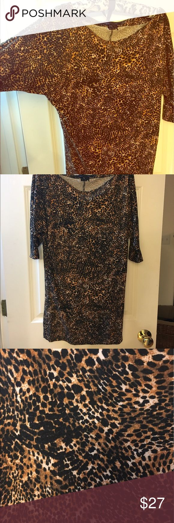 French connection leopard dolman sleeve tunic XS Awesome leopard French connection dolman sleeve tunic.  Great with leggings French Connection Tops Tunics