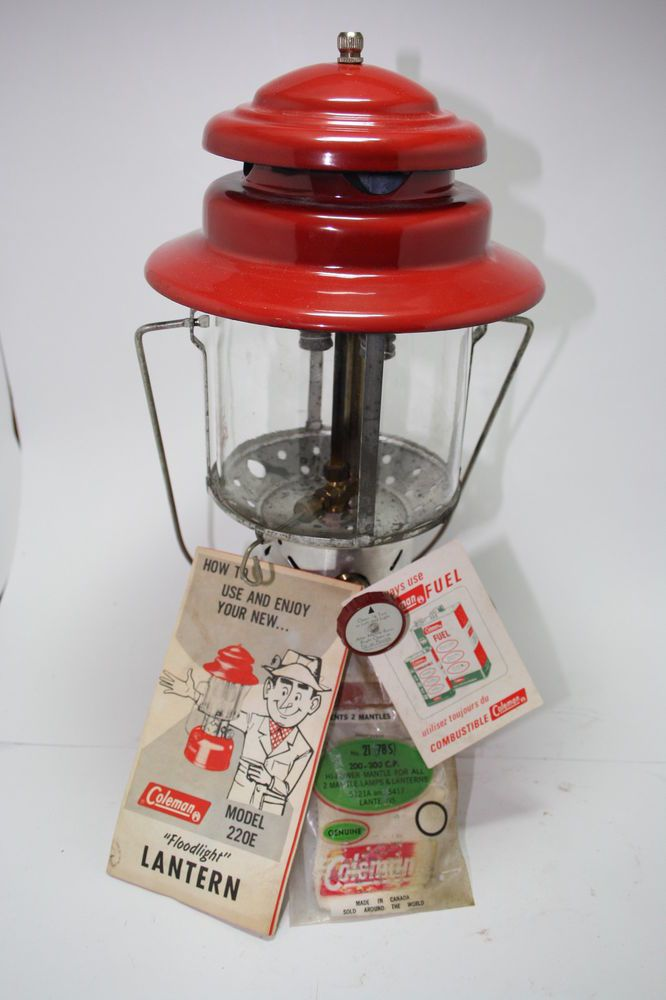 Coleman Lantern Model 220E Canada 11 - 1969 Box Instructions Mantles Papers