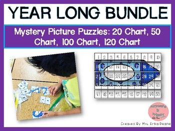 This is an engaging, meaningful activity for mathematicians to build number sense through a progression of charts that create opportunities to understand patterns and how place value is represented at a HUGE SAVINGS! This bundle includes: -Directions with Suggested Instruction Strategies -August 2,, 5,, 1,, & 12, Chart Mystery Picture Puzzles -September 2,, 5,, 1,, & 12, Chart Mystery Picture Puzzles -October 2,, 5,, 1,, & 12, Chart Mystery Picture Puzzles -November 2,...