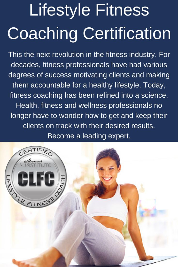 Lifestyle fitness coach certification fitness coach