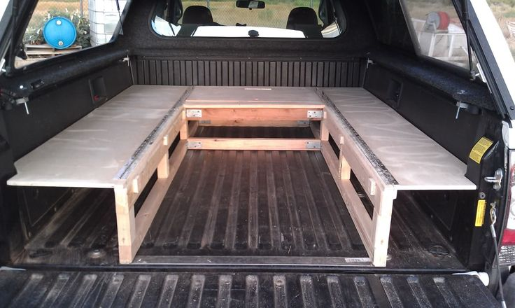 Build platform bed with storage underneath 2017 2018 best cars reviews - Diy truck bed storage ...