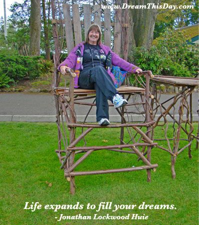 Life expands to fill your dreams.  - Jonathan Lockwood Huie