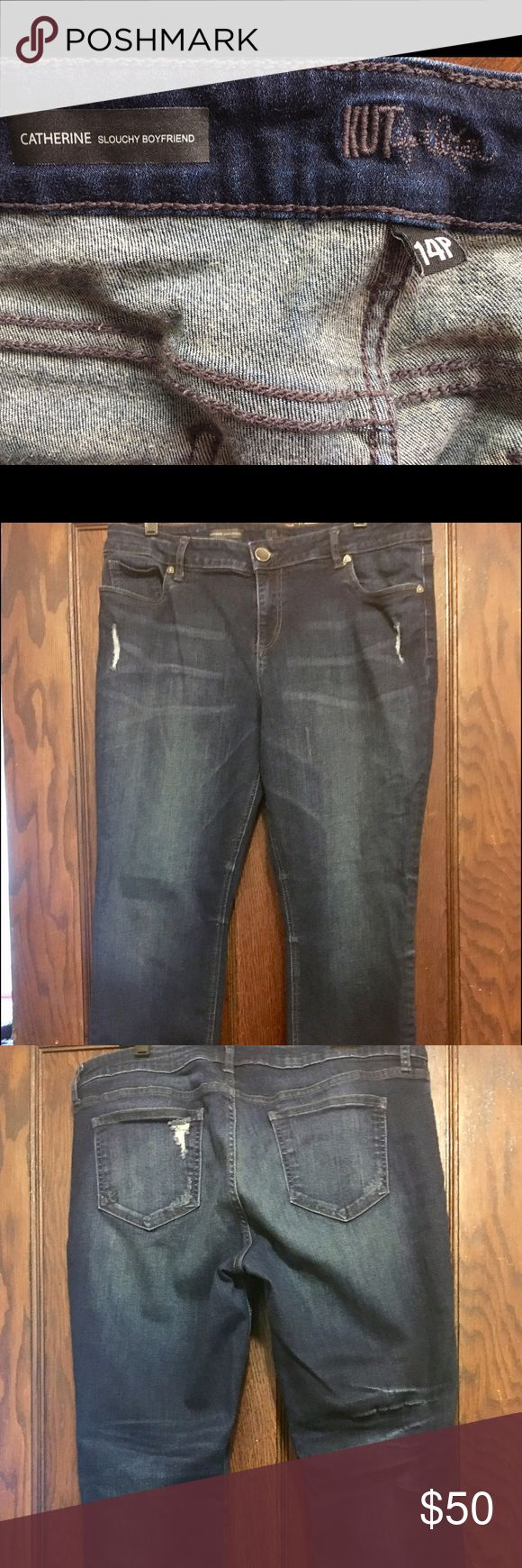 KFTK POPULAR Catherine Boyfriend Jeans. Like New! Kut From The Kloth POPULAR Catherine Boyfriend Jeans. Only worn a few times. Basically New!  The style came with the tears. These are tough to find. You will not be disappointed! Kut From The Kloth Jeans Boyfriend