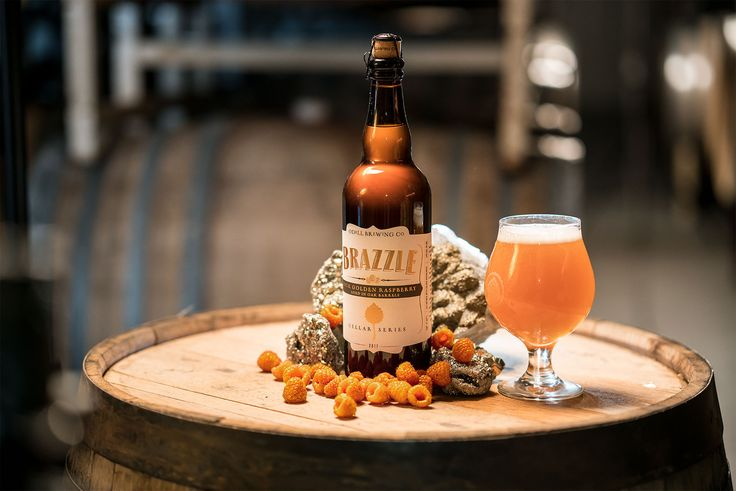Odell's popular golden raspberry sour Brazzle is back. For all the details, see below: Fort Collins, CO. - On May 31st, 2017 Odell Brewing released it's third Cellar Series of 2017, Brazzle, a barrel aged Golden Raspberry Sour. Brazzle is aged and blended in oak barrels for a subtle tartness that balances with the sweet stone fruit character of the golden raspberries. Golden raspberries increased sugar content and minimal acidity make them less tart than red raspberries.