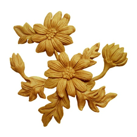 Wooden flower created using CNC Carving Machine. Find more at www.cncsale.net