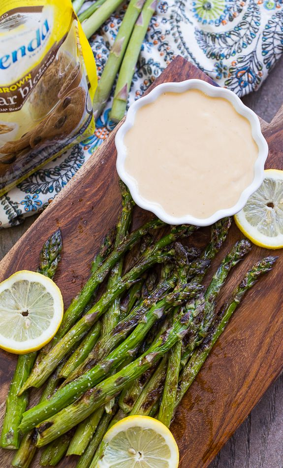 Griled Asparagus with Wasabi-Soy Dipping Sauce