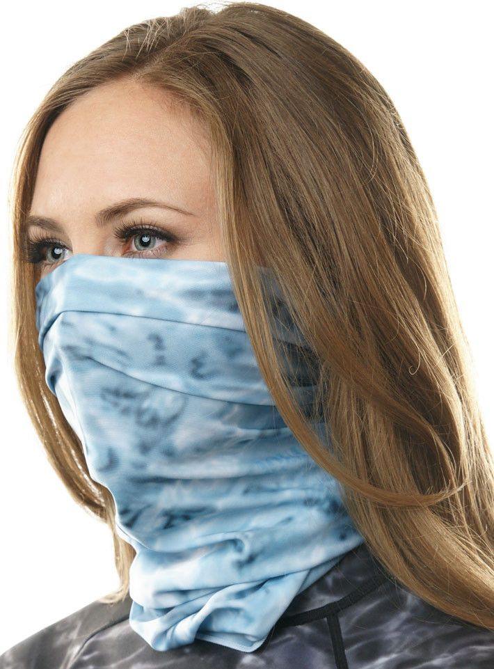 Women's Sun Protection Scarf Face Mask | Aqua Design