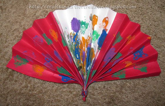 Chinese New Year Fan Craft for Kids