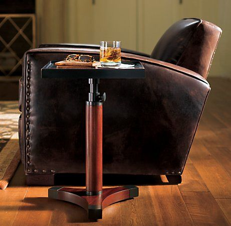 The library chair in a room paired with whiskey