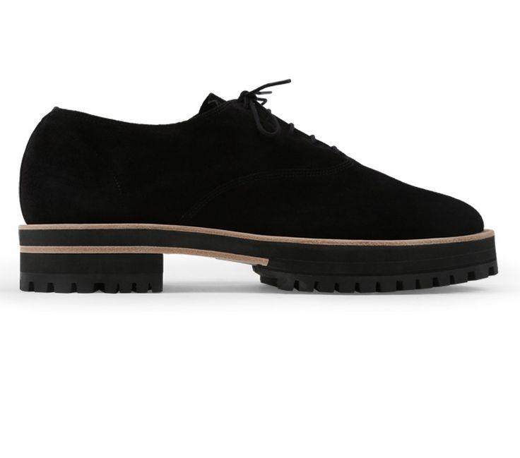 Gianni Oxford Shoe Black Calfskin suede