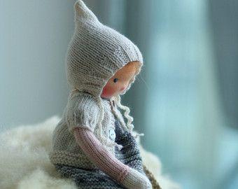 Waldorf Puppe weiche Puppe Puppe gestrickt von PeperudaKnittedDolls