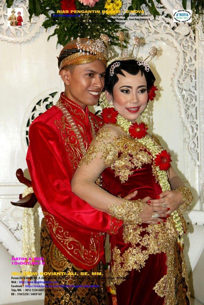 06. Rias Pengantin Bekasi - d'Nova -Pengantin Solo Putri - Ratih Eko - Pose Pengantin Kebaya Merah - Merah #04