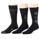 Dockers Men's 3-Pack Performance Dress Argyle Socks, Black, 6 to 12 (Apparel)By Dockers