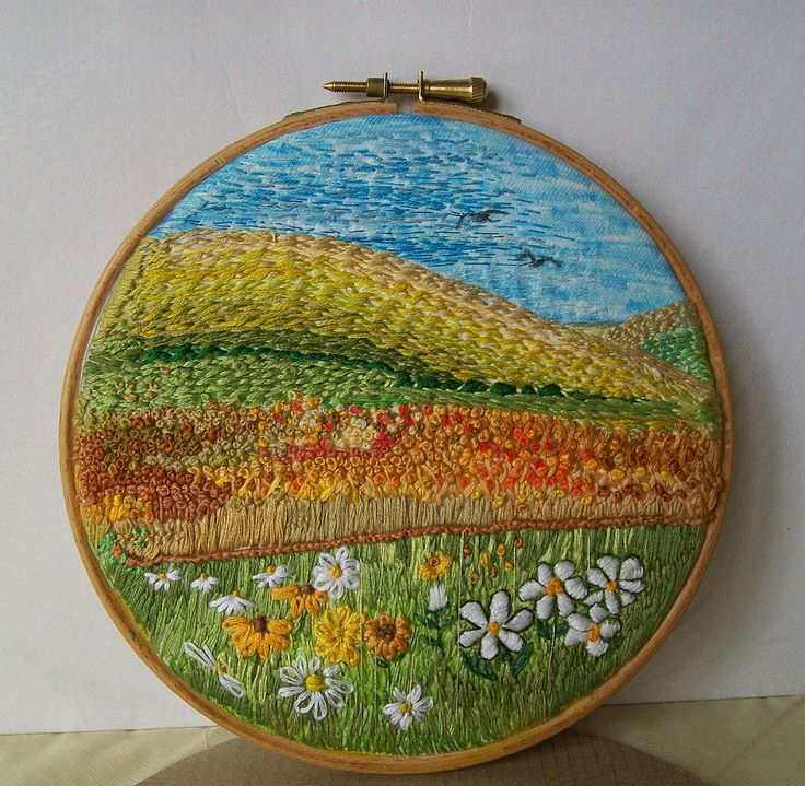 Quiet Place - embroidery by Dozydotes on flickr. Wow!