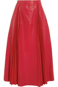 Gucci Pleated leather skirt | NET-A-PORTER