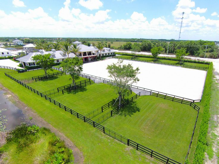 Evermore Farm - spectacular equestrian facility in Wellington, FL - outdoor arena