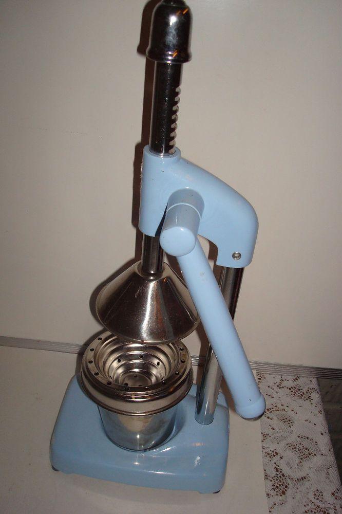 Ethos RUIDA Blue & Chrome Hand Juicer