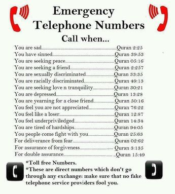 Free numbers. just open the quran and let it's beauty speak to you