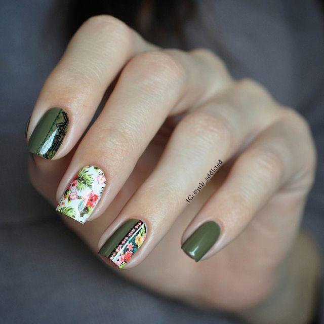 Un mani perfecto para esta temporada. #Mani #Uñas #primavera