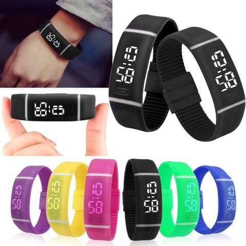 7 Color Mens Womens Unisex rubber band watch LED Watch Date Sports reloj digital hombre  Female sport watches for men