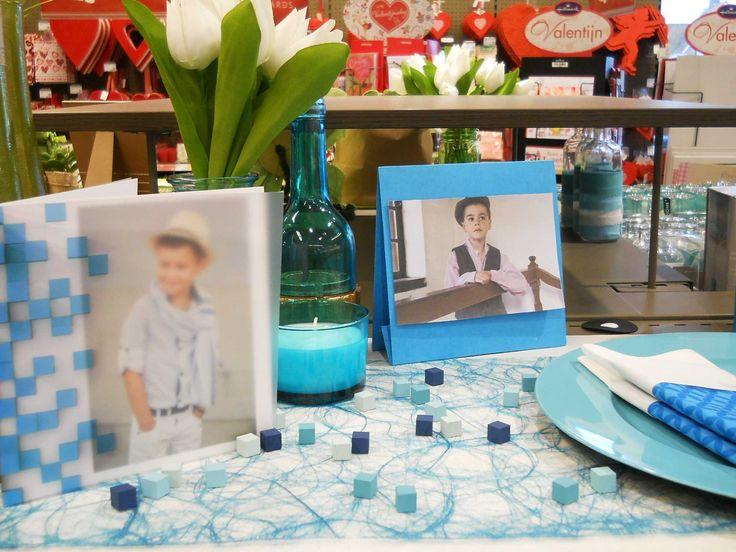 Communie en lentefeest: collectie 2016 - inspiratie voor jongens. Tafelbekleding en tafeldecoratie met het thema Minecraft. Nu verkrijgbaar bij AVA.  #Tafelbekleding #Tafeldecoratie #AvaPapierwaren #AVA #Communie #Lentefeest #ServetVouwen