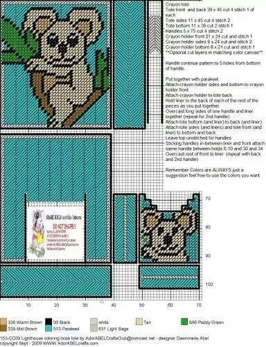 Koala Coloring Book Tote