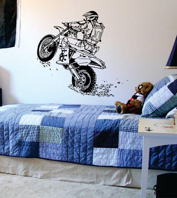 Dirtbiker Wheelie Motocross Design Sports Decal Sticker Wall Vinyl
