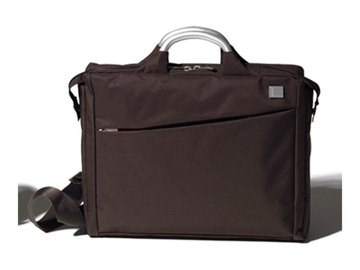 Fransız tasarım markası Lexon'dan kahverengi Evrak/Laptop Çantası, Airline Document Bag Brown by Promart-Promotion