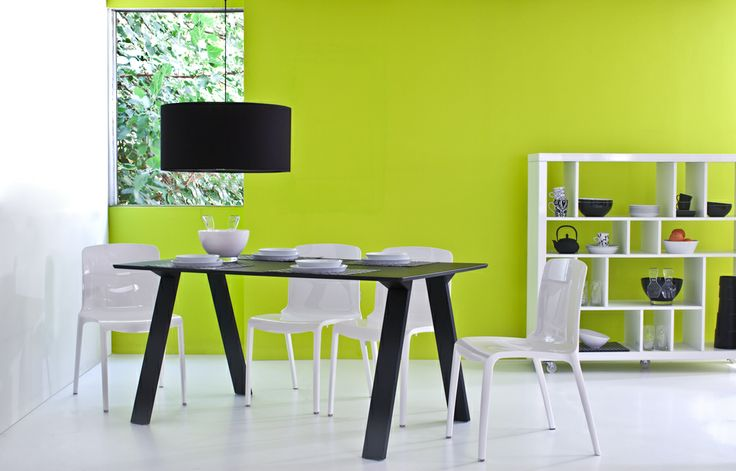 Mesa Rectangular Deck - Silla Tiffany Blanco - Estantería Stan