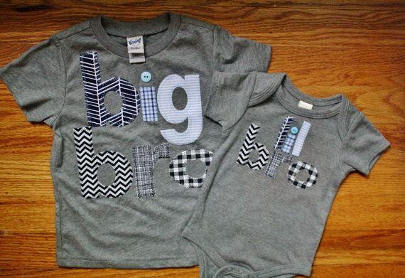 Youth Size Big Brother Shirt Big Bro Sibling Shirts by 40WinksbyJ, $58.96
