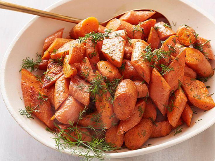 Roasted Carrots recipe from Ina Garten via Food Network