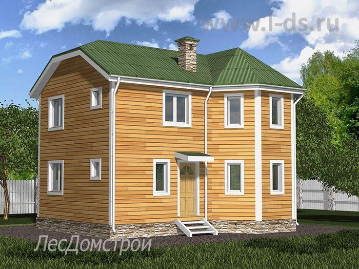 Александров - проект среднего дома, размер 7 на 9. Спокойный уверенный стиль снаружи, комфорт и удобство внутри. Разработан архитектурным бюро ЛесДомстрой