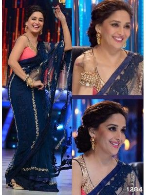 Madhuri Jalak Dikhlaja blue net saree Check our New Bollywood collection, http://20offers.com/madhuri_jalak_dikhlaja_blue_net_saree?search=madhuri#.Uz50yaiSzxA , Available for shipping worldwide,  Buy Bollywood Sarees at lowest price in USA, CANADA, AUSTRALIA, NEW ZEALAND, SINGAPORE, MALYASIA ,UK, NETHERLANDS, FRANCE, JERMANY - Indian Clothing Online!