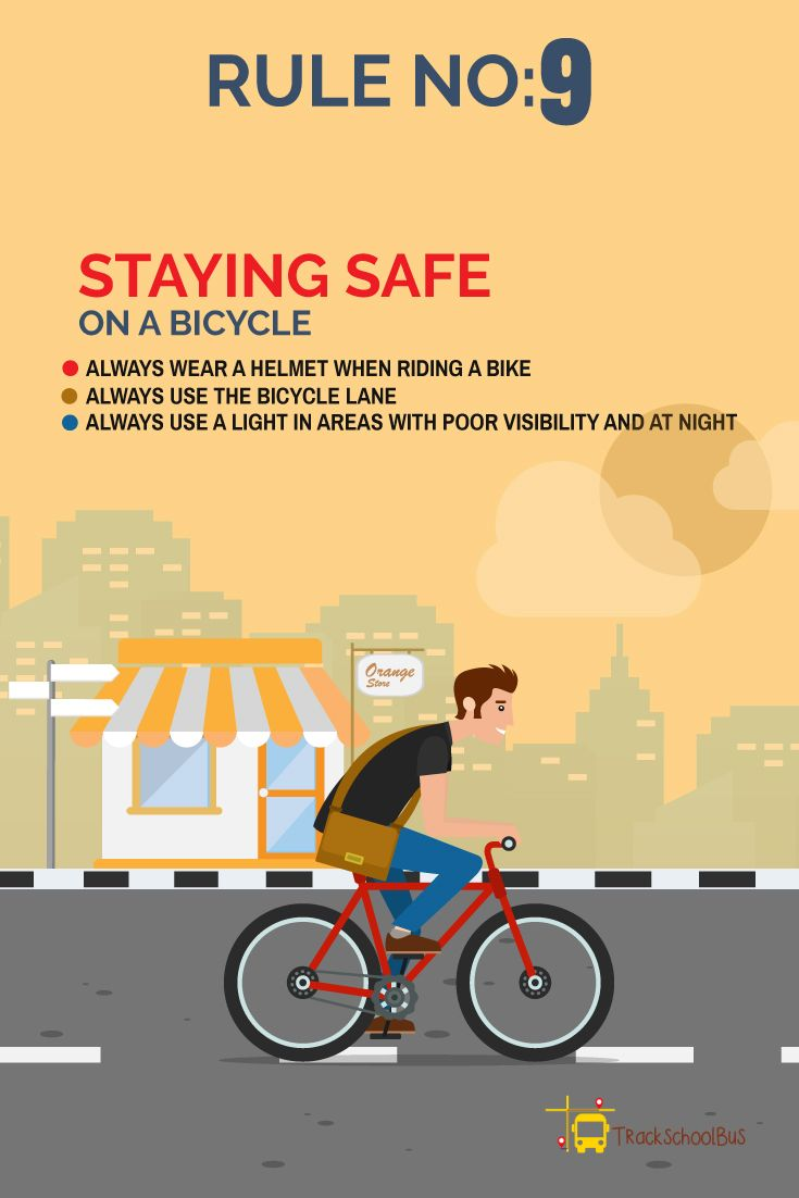Road Safety Rules Rule No 9 Staying Safe On A Bicycle School Bus