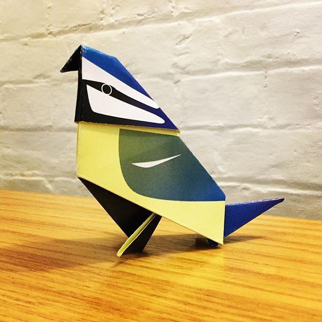 Origami bluetit #origami #bluetit #paperart #birdartben