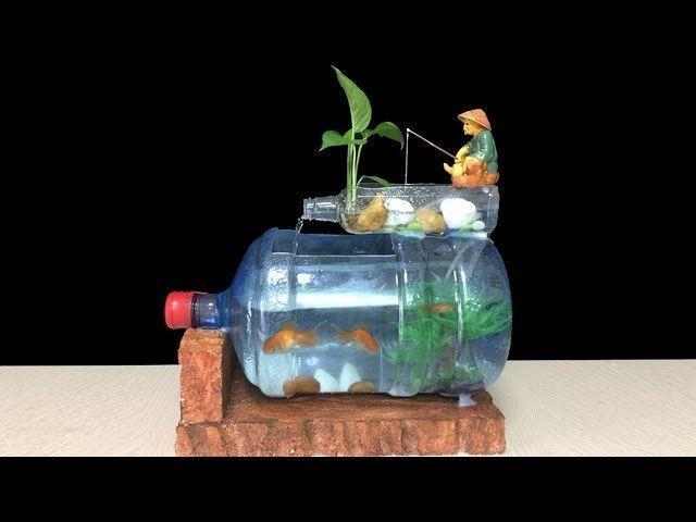 Cómo Hacer Que El Tanque De Peces En Casa Ideas De Bricolaje Del Acuario De La Botella De Arte De La Decoración D Plastic Bottle Art Diy Fish Tank Diy Aquarium