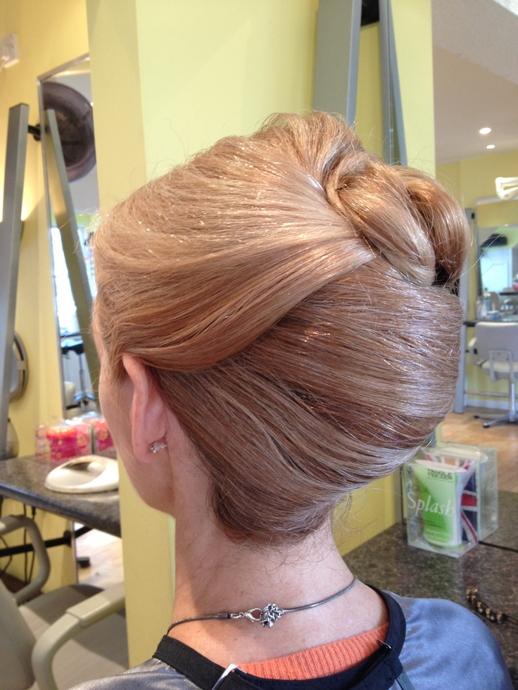 French Pleat Up Do French Twist Big Updo French Twist