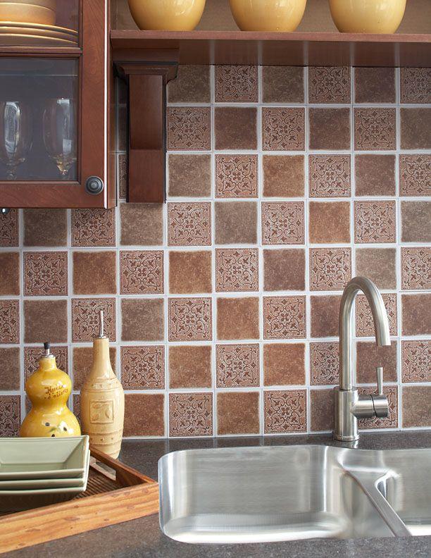 Vinyl Tile For Backsplash Kitchens