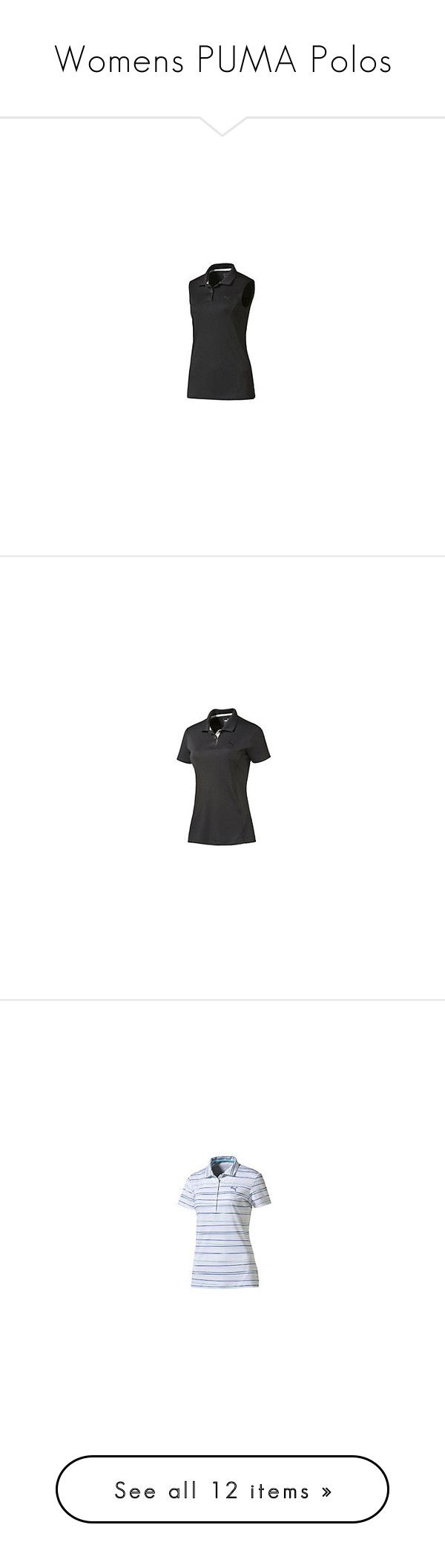 """Womens PUMA Polos"" by tynabrookler on Polyvore featuring tops, polo tops, polo shirts, ferrari, polo collar shirts e collar top"