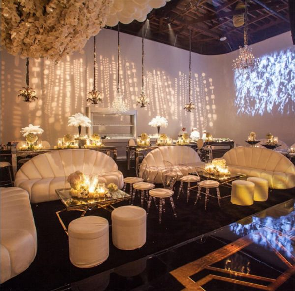 The Ballroom at Kris Jenner's 60th Birthday Party on November 06, 2015. (Courtesy of Instagram)