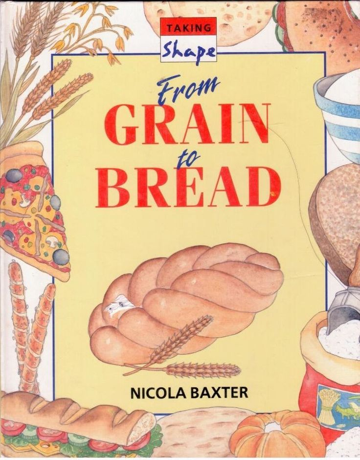 From Grain to Bread by Nicola Baxter - Book on How to Bake Bread - S/Hand