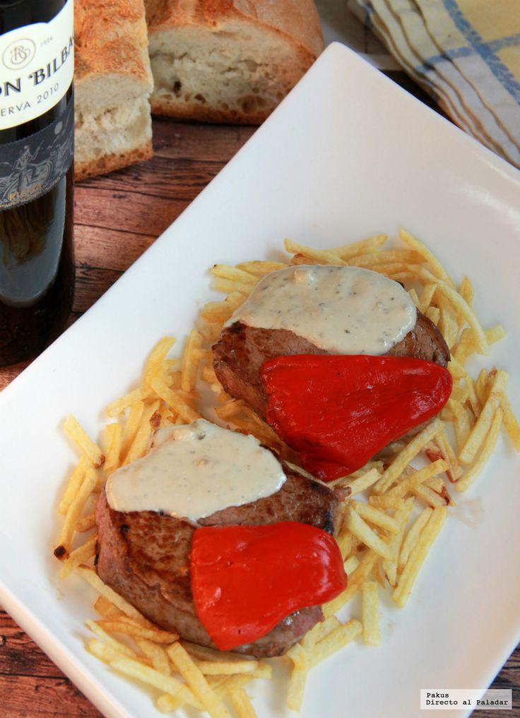 Solomillo de ternera con salsa de Cabrales #recetas #carnes #ternera