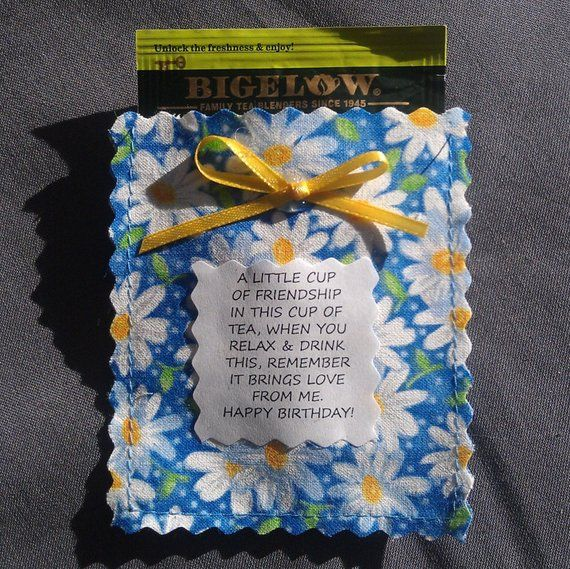 Vintage inspired tea cup Friendship tea bag envelopes party favor card insert