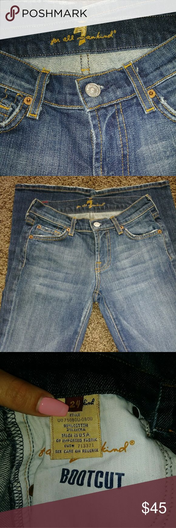 """7 for all Mankind"" Women's Bootcut Jeans Size 24. Bootcut, 7 for all Mankind, blue jeans. 7 For All Mankind Jeans Boot Cut"