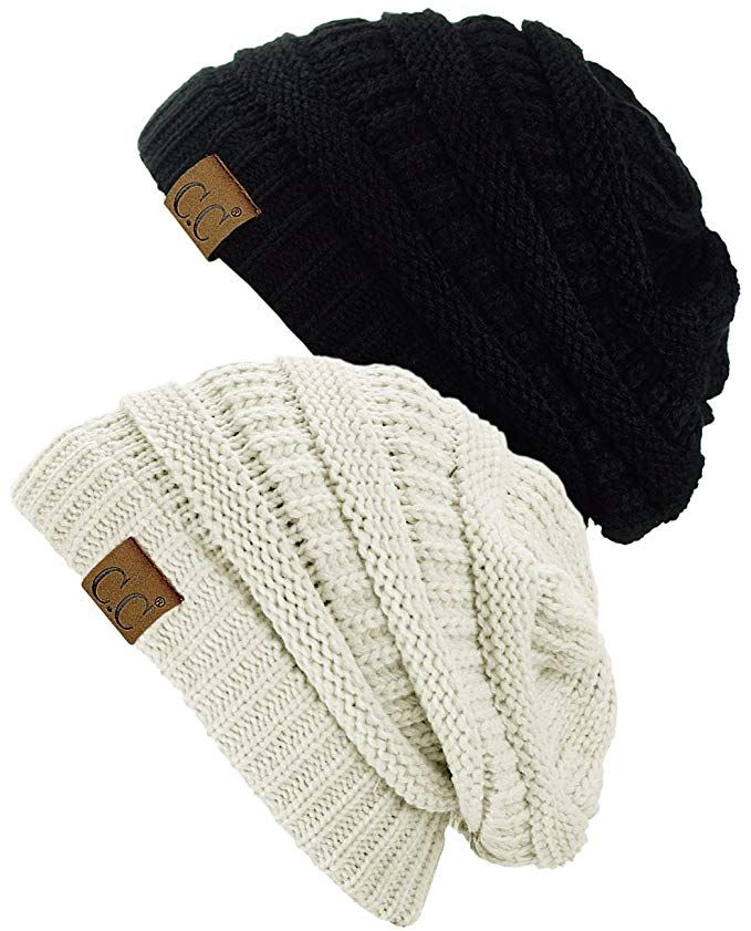 2e592150dce C.C Trendy Warm Chunky Soft Stretch Cable Knit Beanie Skully